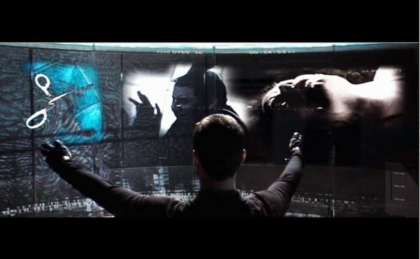 Interacciones virtuales en Minority Report